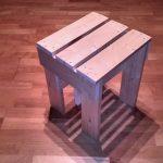 Simple DIY stool built using boards
