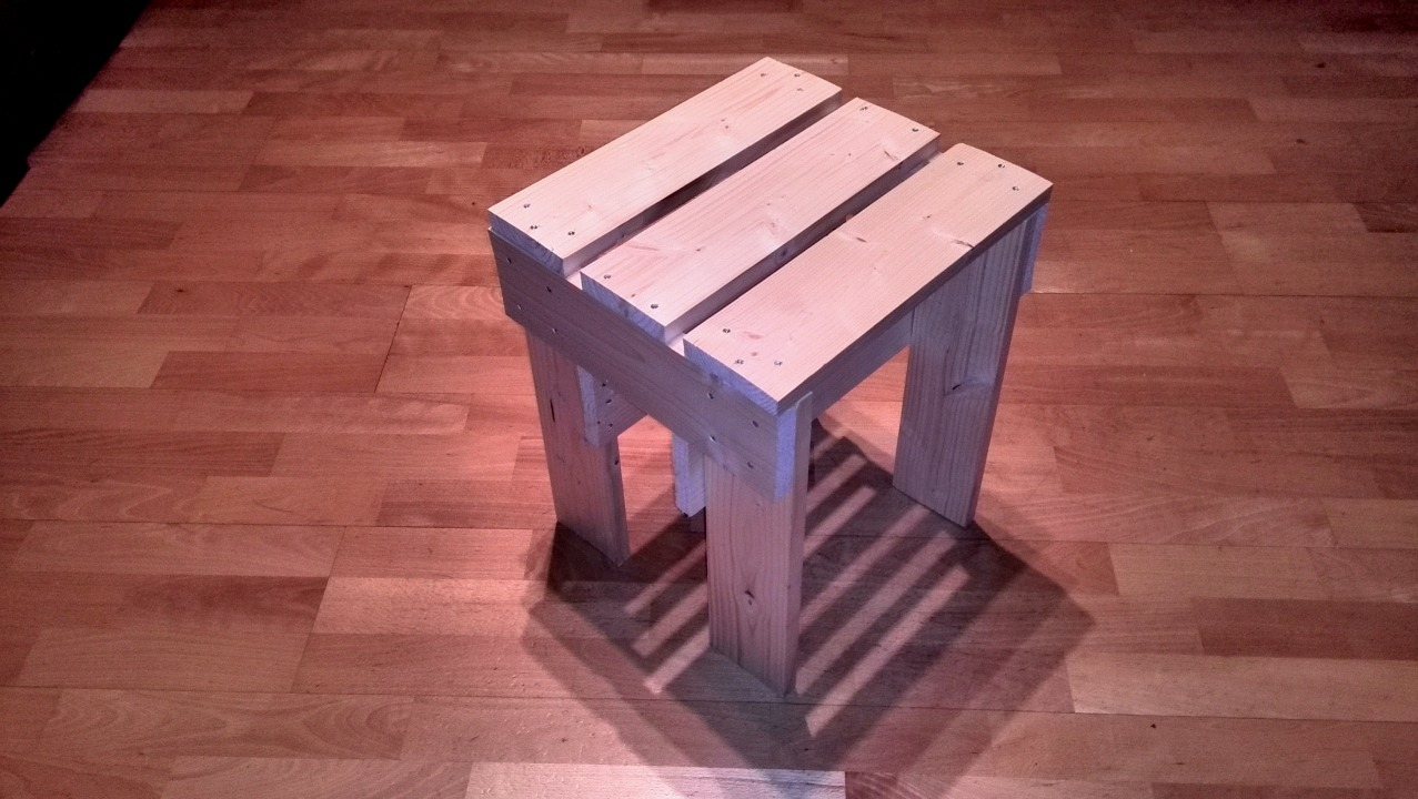 how to build a simple milking stool