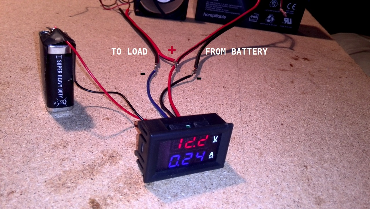 How To Wire Digital Dual Display Volt- And Ammeter