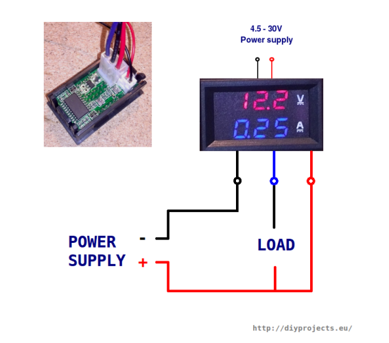 Wiring volt-ammeter without external power supply for chip