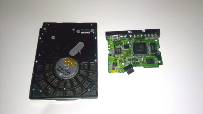 WD200EB HDD mainboard and bottom case