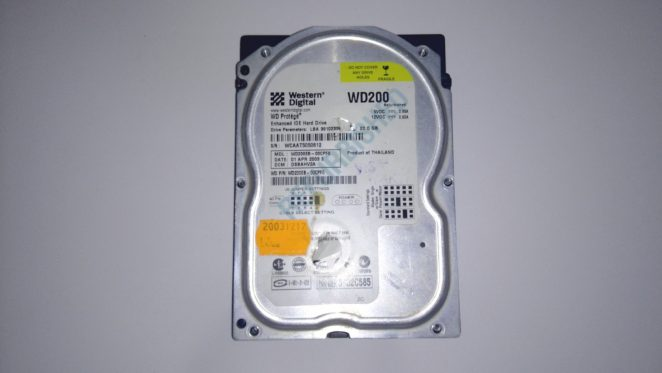 WD200EB HDD top view