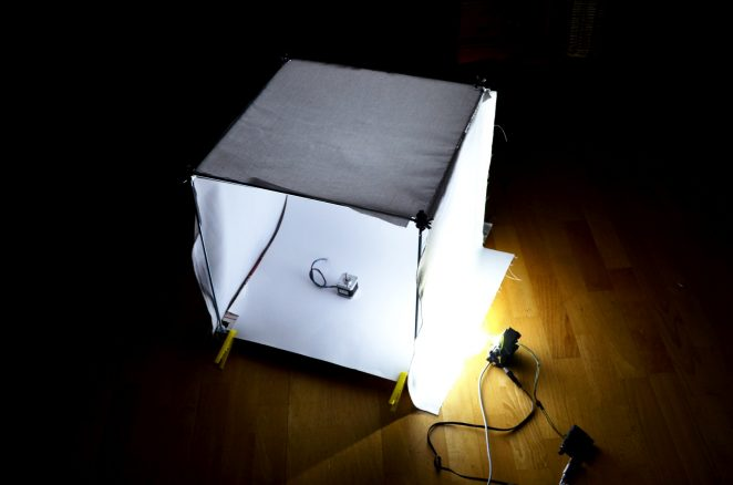 lightbox testing with one LED