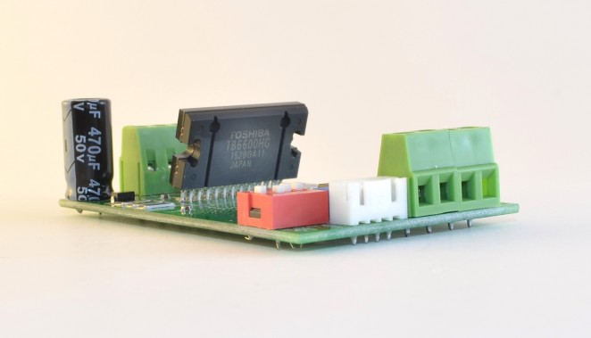 TB6600 v1.2, without heatsink, showing Toshiba TB6600HG main driver chip