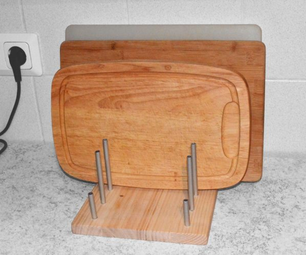 Wooden cutting boards rack / holder idea