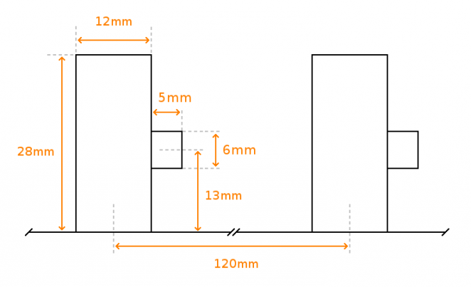 KitchenAid attachments holder measurements and dimensions