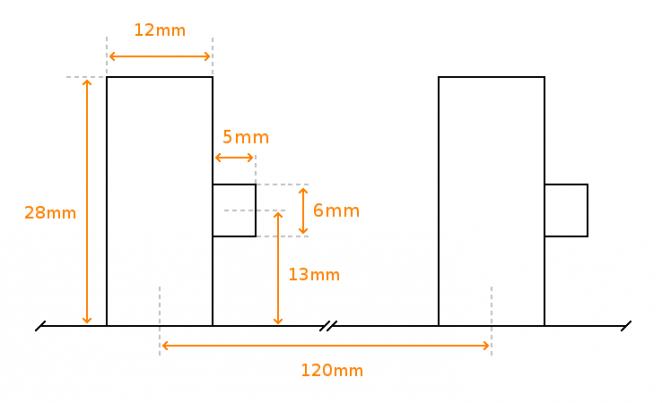 KitchenAid attachments holder measurements and dimensions