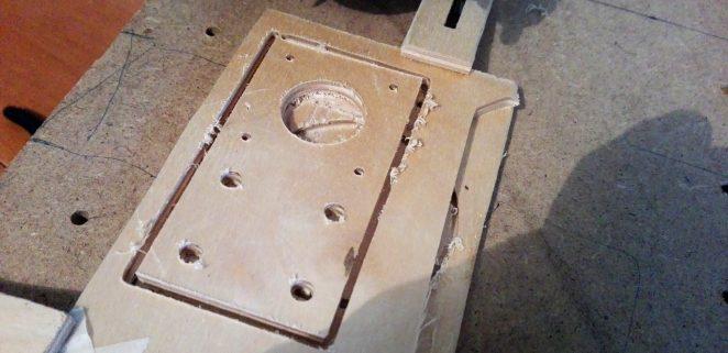 NEMA 17 motor mounting plate cut by CNC machine