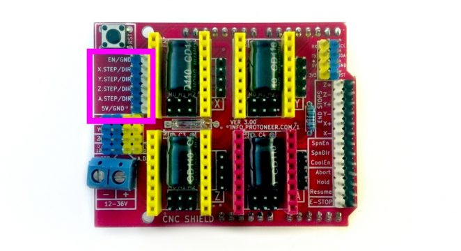 Arduino CNC shield pinout for cloning whole board